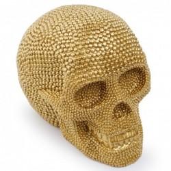Golden skull - resin statue - Halloween decoration