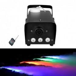 Mini fog machine - 500W - LED - RGB - wireless - with remote control