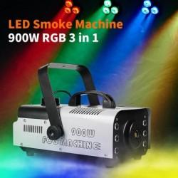 900W - smoke machine with LED - wireless - with remote control