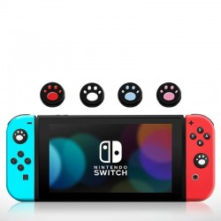Nintendo Switch controller silicone case - 6 in 1 - with thumb stick cover - cat claw print