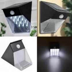 Triangular solar wall light - with PIR motion sensor - 12 LED