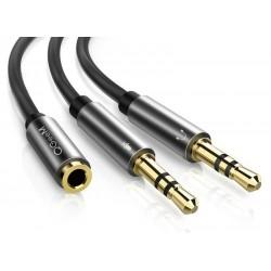 Headphone splitter - 3.5mm jack - female to male - for PC