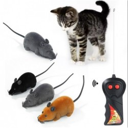 Electronic mouse - toy for cats - wireless - with remote control