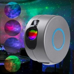 LED laser projector - stage light - with remote control - starry sky / galaxy / stars