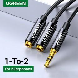 Headphone splitter - 1 male to 2 female - ABS shell / aluminum shell