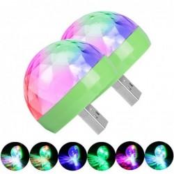 Mini disco light - USB - LED - crystal ball - lamp - with music sensor