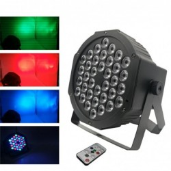 LED Par - flat stage light - RGBW - with remote control