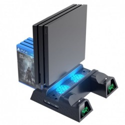 Dual charging dock - cooling stand - LED - for PS4 / PS4 Slim / PS4 Pro controller