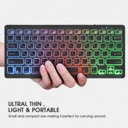 RGB wireless keyboard - with battery - Bluetooth 4.0 - iOS / Android / MacBook