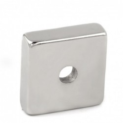 N35 - neodymium magnet - square - with 7mm hole - 30 * 30 * 10mm