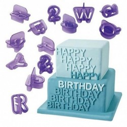Uppercase alphabet symbols - baking / pastry mold - 40 pieces / set