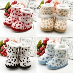 Warm baby / newborn shoes - anti-slip - with adjustable strap