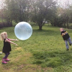 Inflatable bubble ball -...