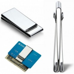 Metal clip - for money / credit cards - stainless steel wallet