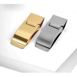 Custom lettering - money clip holder / wallet - stainless steel