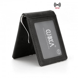 Slim leather wallet - unisex - business cards / credit cards / ID card