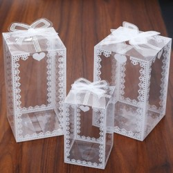 Transparent gift box - wedding / party / cakes / presents
