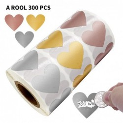 Heart shaped labels - scratch stickers - 2.5cm - 300 pieces