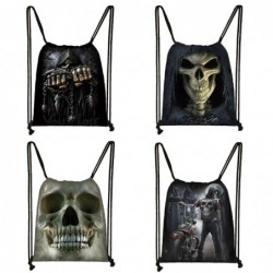 Unisex canvas backpack - with drawstrings - grim reaper / skull / death