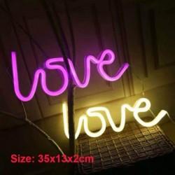 LED night light - neon lamp - USB - LOVE letters