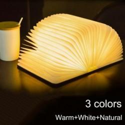 3D book shaped night light - foldable - magnetic - LED - USB - 5V
