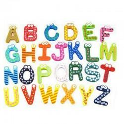 Wooden fridge magnets - educational toy - symbols / alphabet - numbers