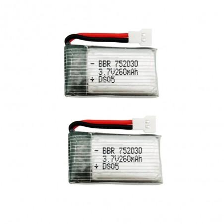 3.7V 260mAh Lipo battery 752030 - for H8 Mini Quadcopter - 2 pieces