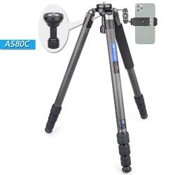 AS80C - carbon fiber tripod - professional camera holder / adapter