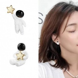 Astronauts with a star - asymmetrical earrings - pendant for necklace