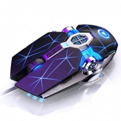 Professional optical gaming mouse - 6 buttons - wired - 3200DPI - LED - silent