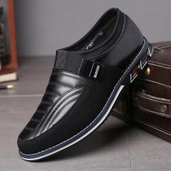 Elegant classic men's shoes - slip on