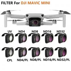 Camera lens - filter - clip - for DJI Mavic Mini - UV / CPL / ND4 / ND4PL