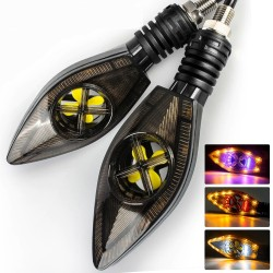 Motorcycle turn / signal lights - super bright - LED / DRL 12V - 2 pieces