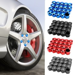 Car rim cover - protective nuts - with clip - 17mm - 20 pieces