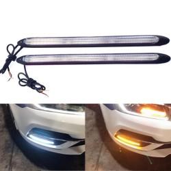 Car turn signal lights - dual mode / color - LED - DRL - 12V - 2 pieces