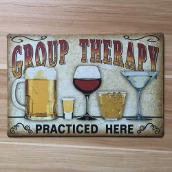 Group Therapy - vintage metal sign - wall sticker