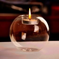 Crystal glass ball - bulb - candle holder