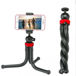 Portable flexible octopus mini tripod phone camera holder selfie stick