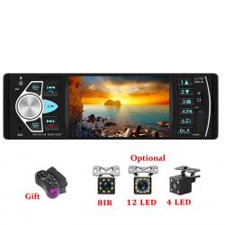 Autoradio Bluetooth - display din 1 - 4 pollici - MP3 / MP5 - telecamera posteriore - telecomando da volante