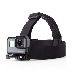 Adjustable head-strap with mount for GoPro
