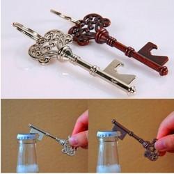 Key shaped bottle opener with keyring