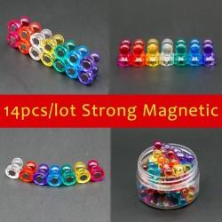 Magnetic neodymium thumb tacks pins - fridge magnets 14 pieces